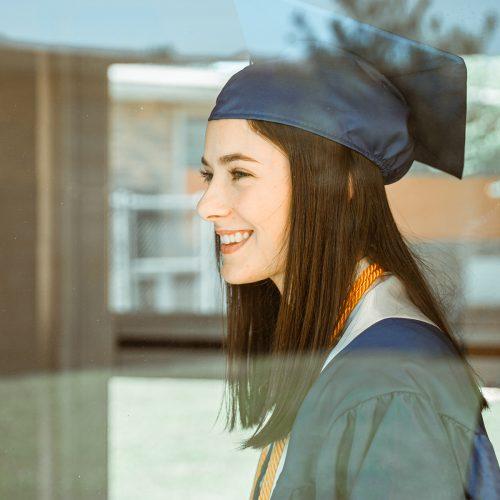 Woman graduating